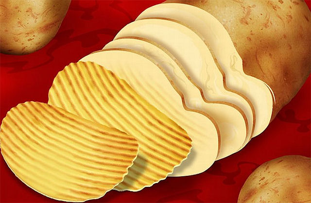 Чипсы и картофель