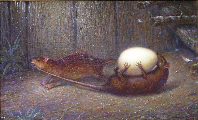 Крысы воровали яйца из курятника