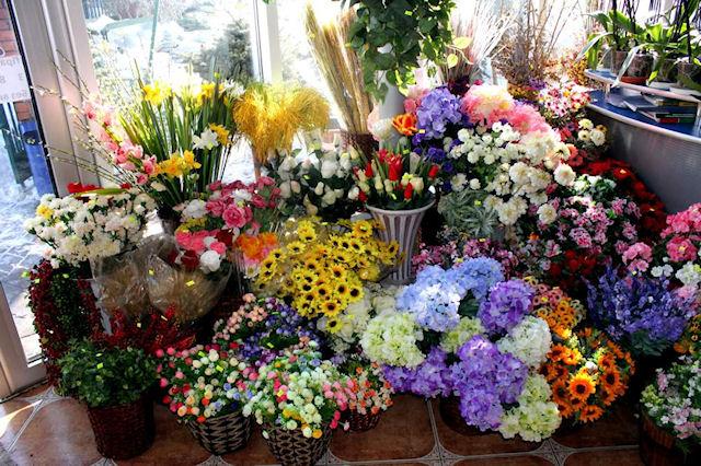 Наш интерьер - искусственные цветы