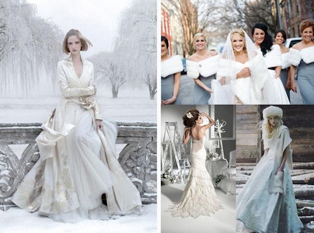 Одежда для зимней свадьбы
