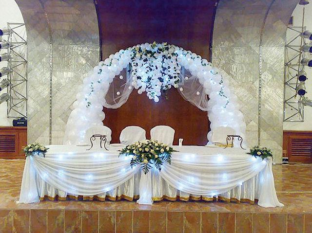 Интересные идеи оформления свадебного зала