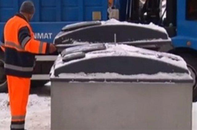 В Киеве установили мусорные контейнеры, защищенные от грызунов
