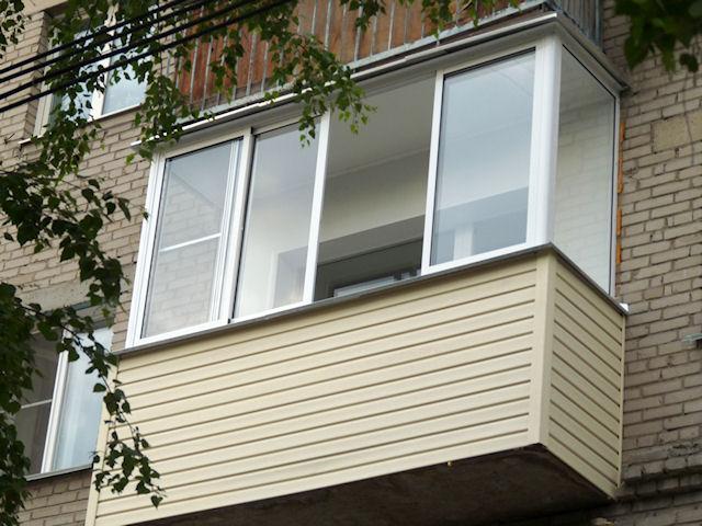 Виды наружной отделки балкона