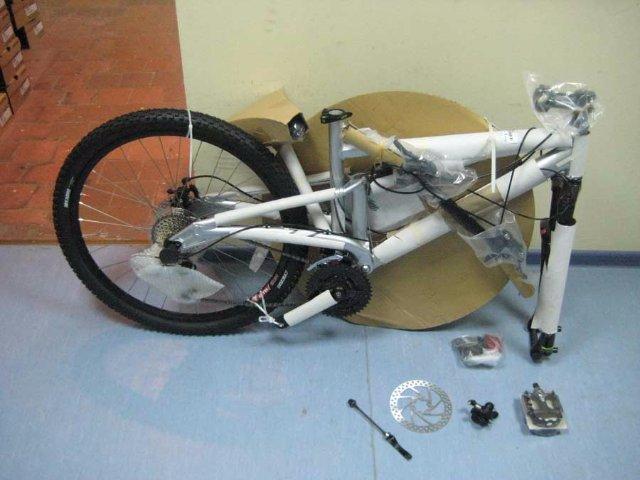 Сборка велосипеда с коробки