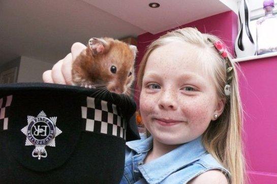 Британские полицейские спасли хомячка