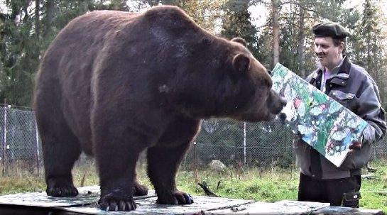 Медведь, который очень любит рисовать