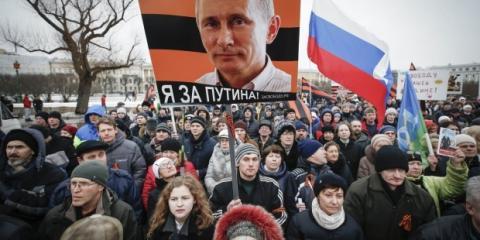 82% россиян полностью поддерживают Путина