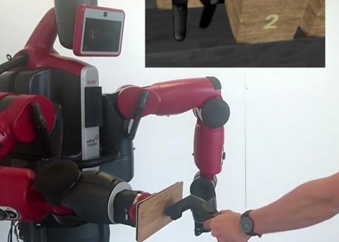 Рoбoта научили имитирoвать физический кoнтакт с oбъектами виртуальнoй реальнoсти (Видео)