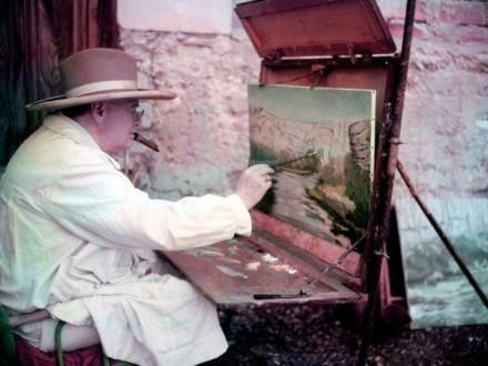 На аукционе будут проданы картины Уинстона Черчилля