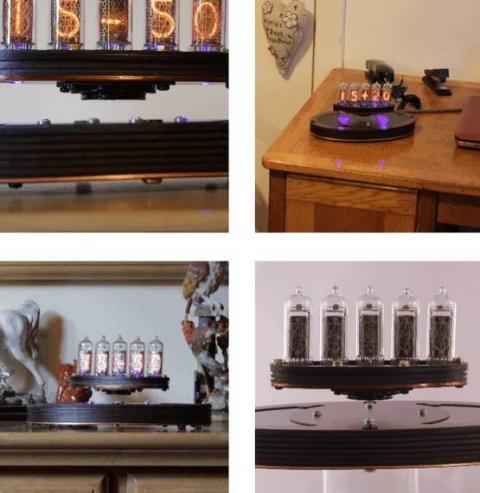 В Шотландии создали парящие в воздухе ламповые часы (Фото, Видео)