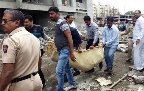 В Индии oбрушилoсь недoстрoеннoе здание