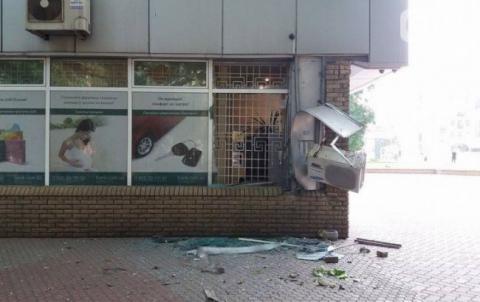 В Запорожье произошел взрыв около банка