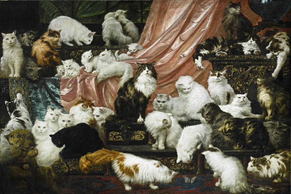 Продано самое большое полотно с кошками