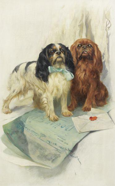 Собаки примут участие в аукционе дома Бонхам