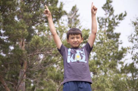 10-летний житель Казахстана отжался 1000 раз в поддержку олимпийской сборной (ВИДЕО)