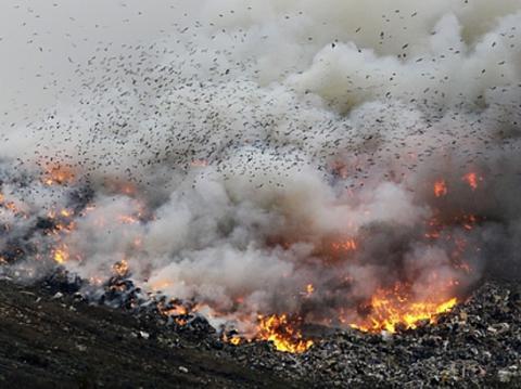 Свалки в Украине поджигают специально